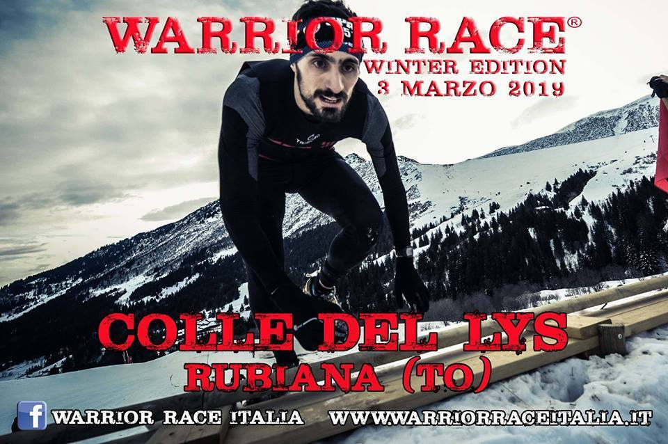 "Domenica 3 marzo a Rubiana e Viù c'è la ""Warrior Winter Race"""